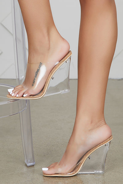 Transparent CORK Wedge