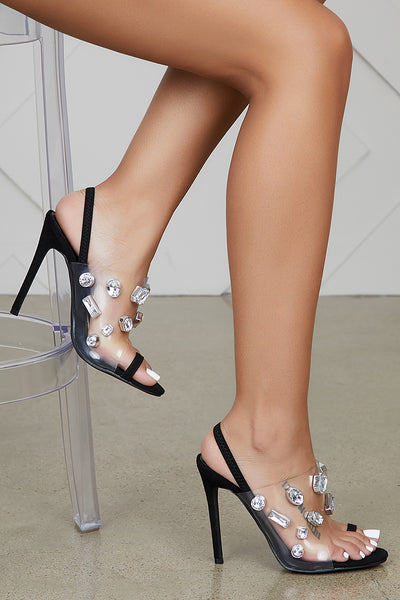 Splendid Black Jewel Heel