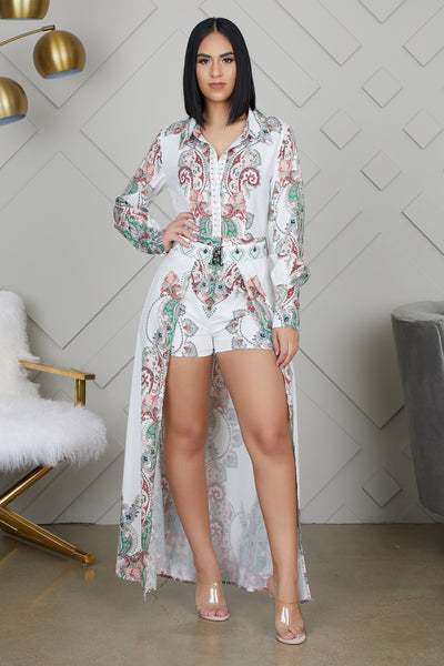 Paisley Print Romper Dress- FINAL SALE