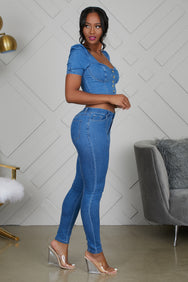 Denim Babe Set- FINAL SALE