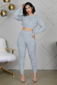 Cozy Up Jogger Set (Grey)- FINAL SALE