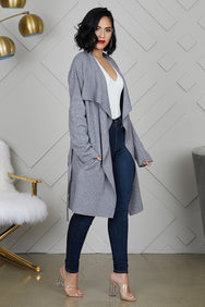 Waterfall Cardigan (Grey)