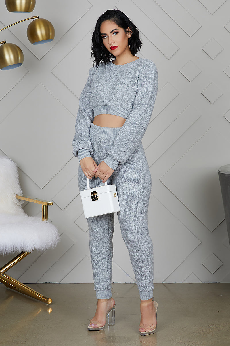 Cozy Up Jogger Set (Grey)