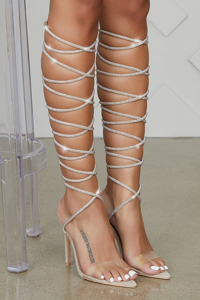Brandy Lace Up Heel (Beige)