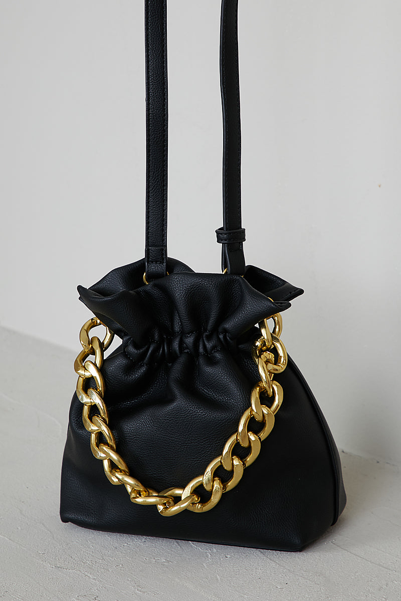 Chain Bucket Bag (Black)