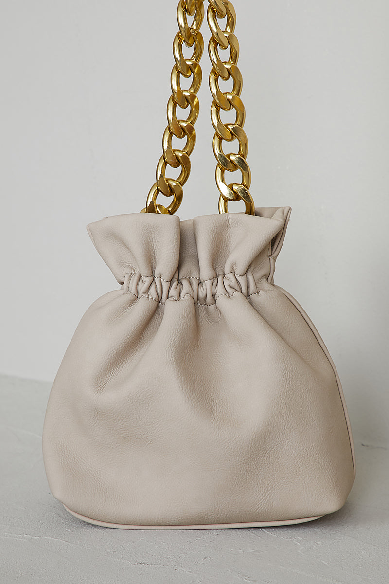 Chain Bucket Bag (Cream)