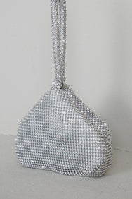 Rhinestone Bling Mini Bag (Sliver)