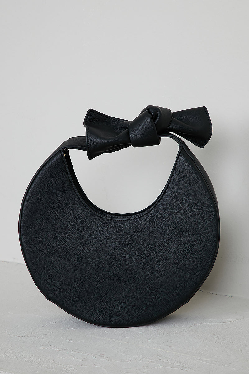 Circle Bow Bag (Black)- FINAL SALE