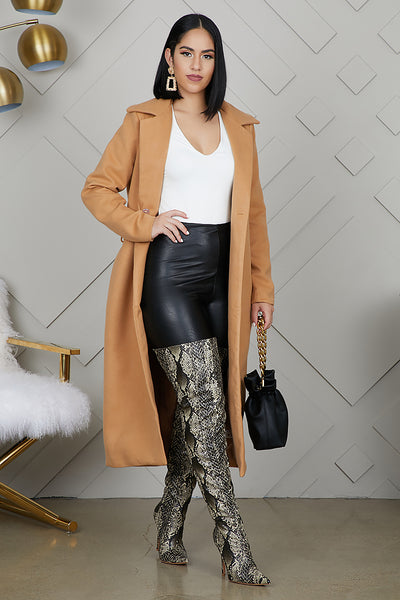 Long Wrap Coat (Camel)