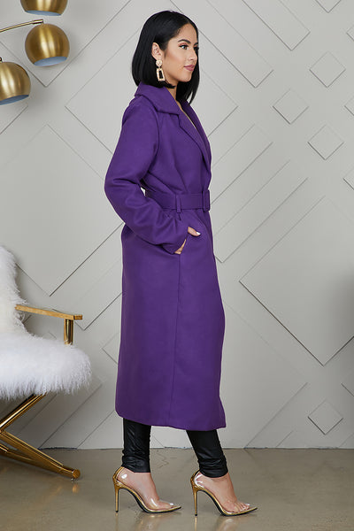 Long Wrap Coat (Purple)