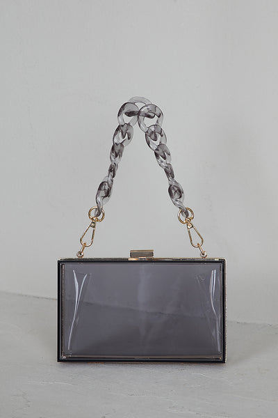 Lizzo Clear Box Bag (Smoke)
