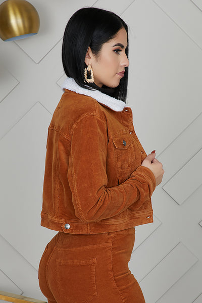 Corduroy Crop Jacket