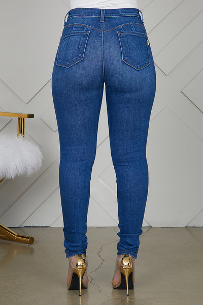 Booty Lifting High Waist Jeans (Medium Wash)