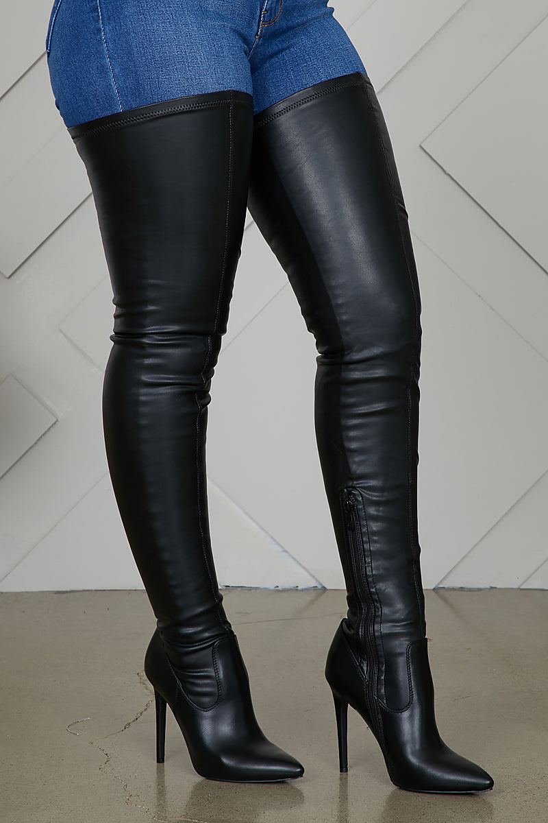 Extreme Thigh High Stretch Boots