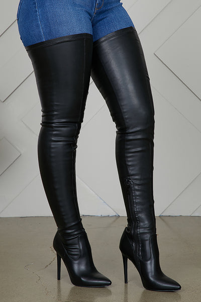 Extreme Thigh High Stretch Boots- PREORDER ONLY SHIPS OCTOBER 30TH