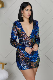 Own The Night Sequins Dress