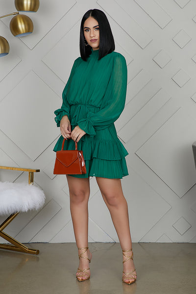 Ruffle Up Green Dress