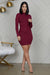 Mini Bandage Ribbed Dress (Wine)- FINAL SALE