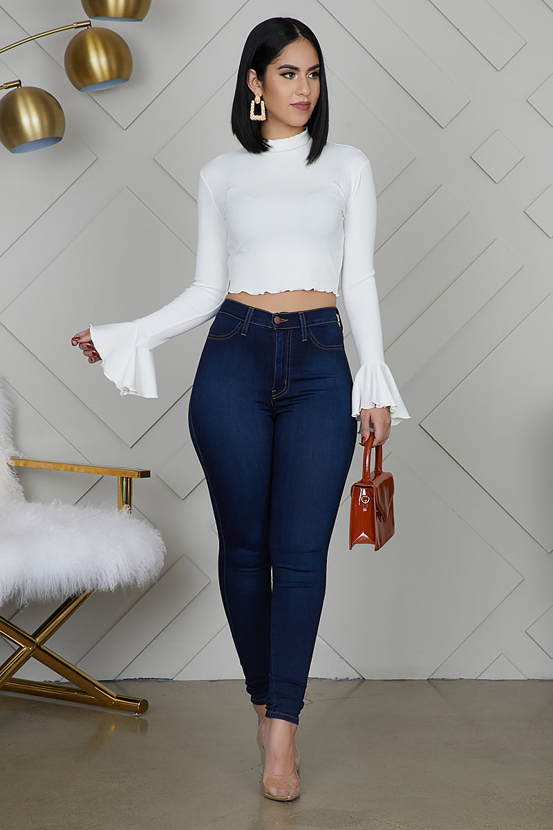 Bell Sleeve Top (Off White)