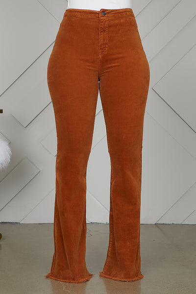Corduroy Bell Bottom Pants