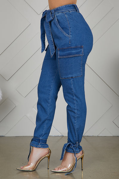Cargo Denim Pants - FINAL SALE