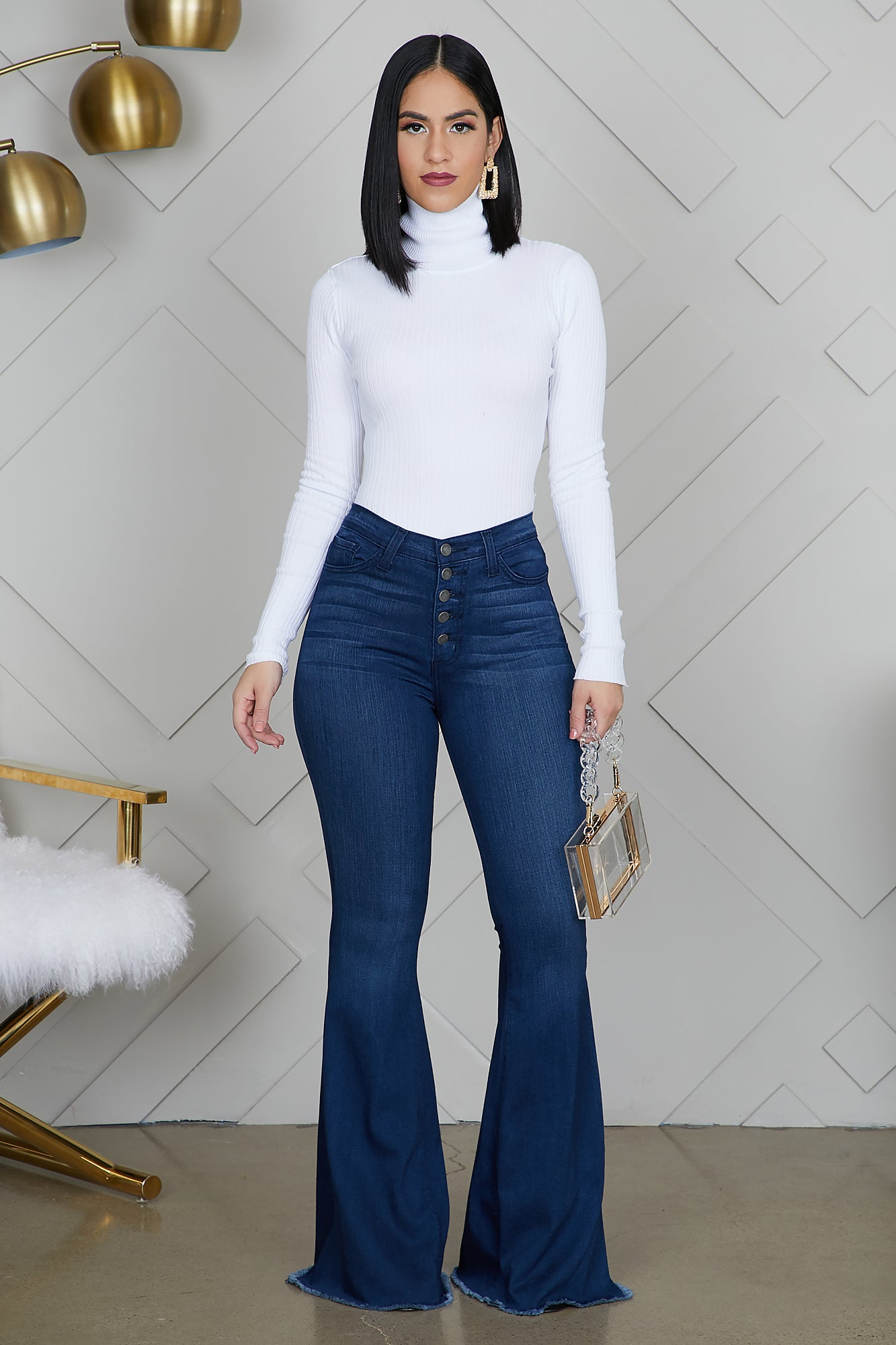 5 Button Flare Jeans