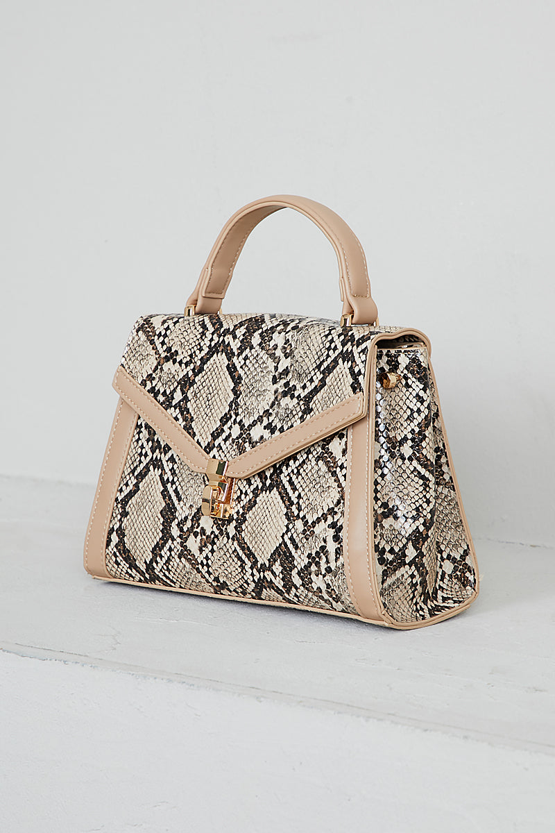 Madison Top Handle Bag (Beige)