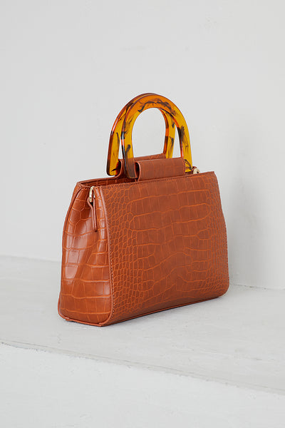 Tortoise Top Handle Bag
