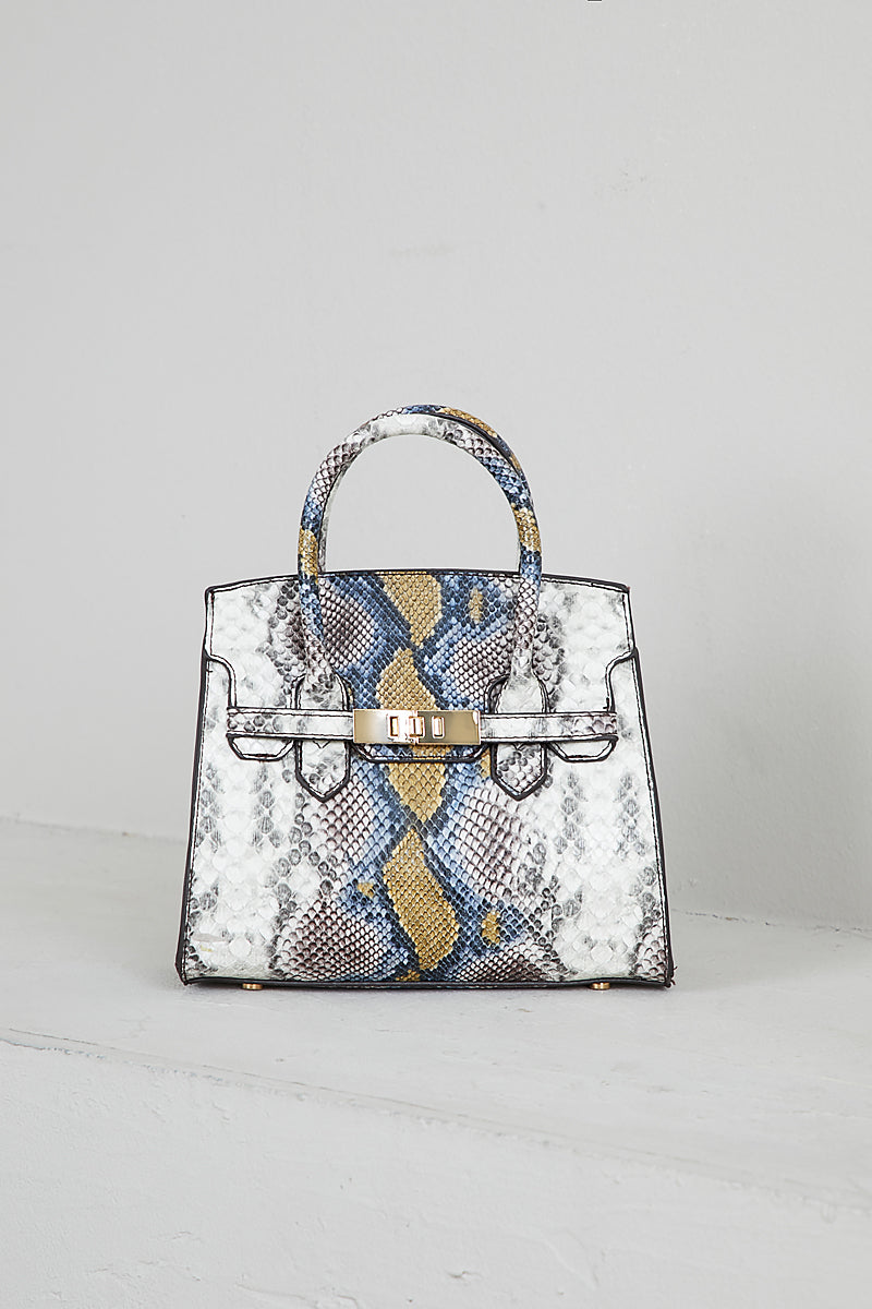 Top Handle Bag (Multi Snake)