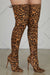 Vogue Thigh High Boots (Leopard)- FINAL SALE
