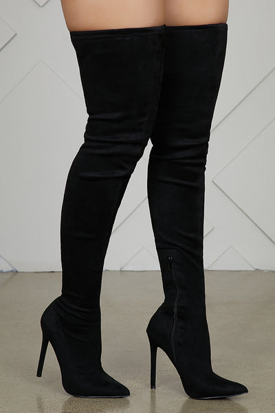 Vogue Thigh High Boots (Black)