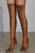 Suede Snake Print Thigh High Boot- FINAL SALE