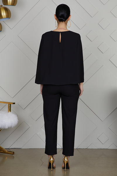 Cape Blazer Jumpsuit