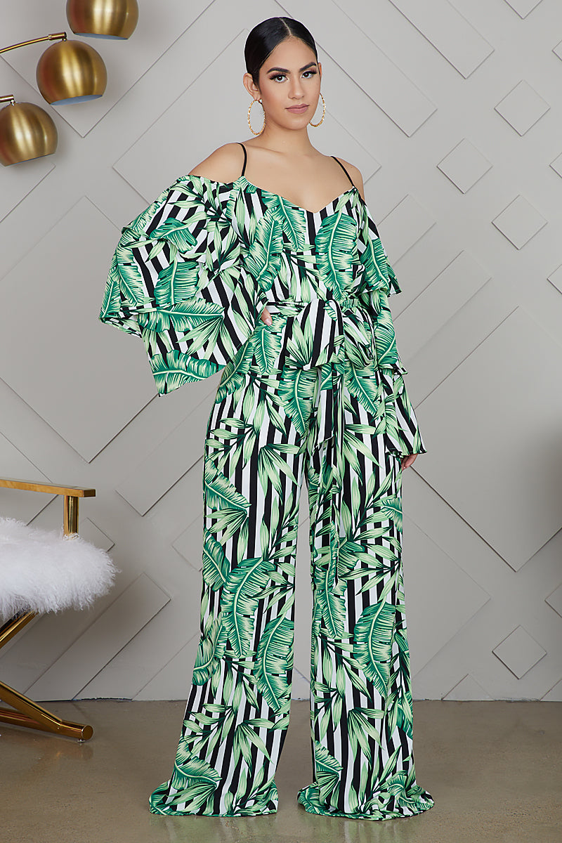 In The Palms Stripe Jumpsuit