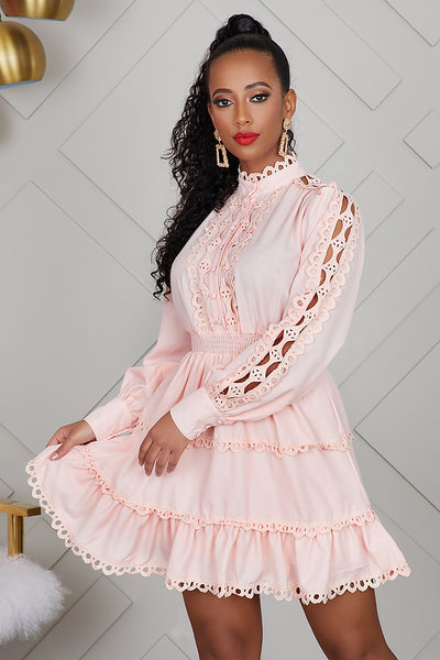 Peach Baby Doll Dress