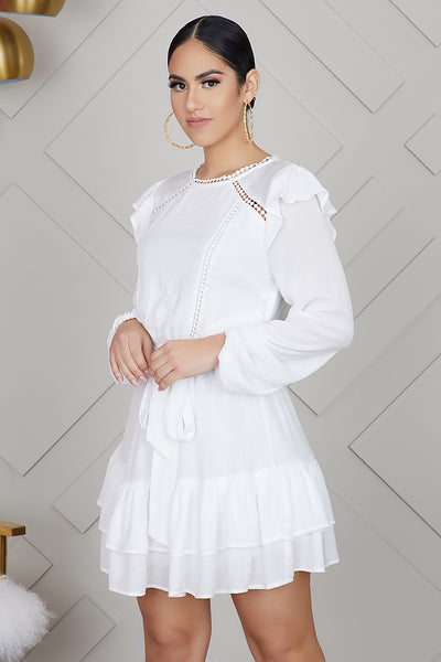 Peasant White Dress