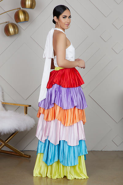 Multi Color Layered Maxi Dress