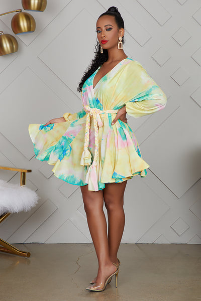 Tie Dye Baby Doll Dress