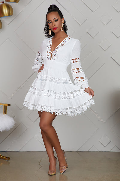 All White Baby Doll Dress