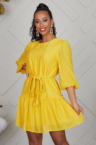Mellow Yellow Baby Doll Dress