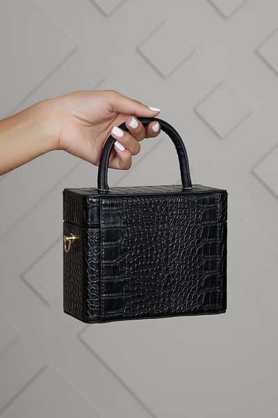 What The Croc Box Bag (Black)