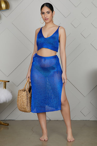 Swimsuit cover up (Blue)