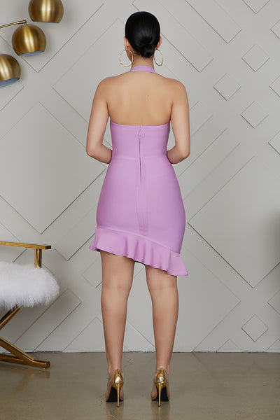 Bandage Mini Dress (Lavender)