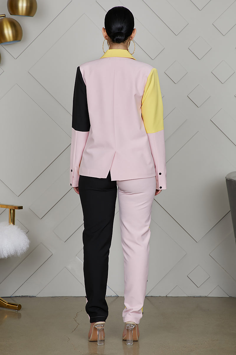 Color Block Pant Suit