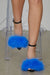 Faux Fur Heels (Blue)