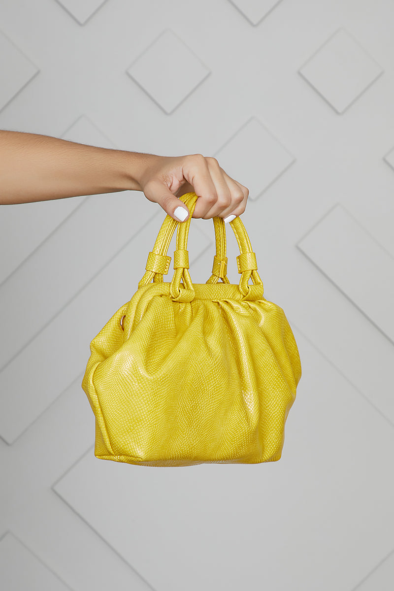 Hobo Top Handle Bag (Chartreuse)