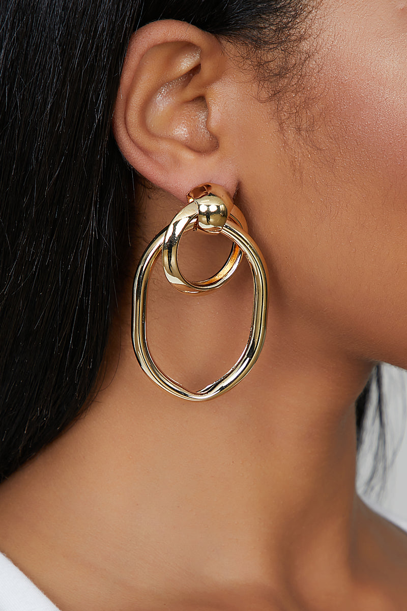 Loop In Gold Earrings