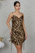 Leopard Side Ruched Dress- FINAL SALE