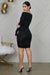 Date Night Ruched Dress (Black) - FINAL SALE