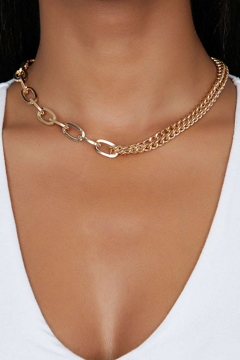 Two Face Gold Chain Choker